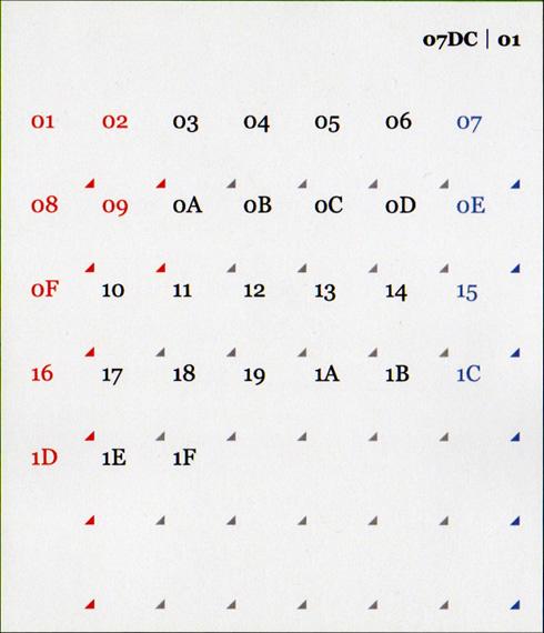16進数カレンダー